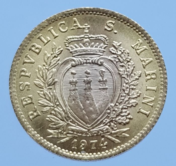 Saint-Marin - 1 Scudo 1974 Resumption of Coinage - Or