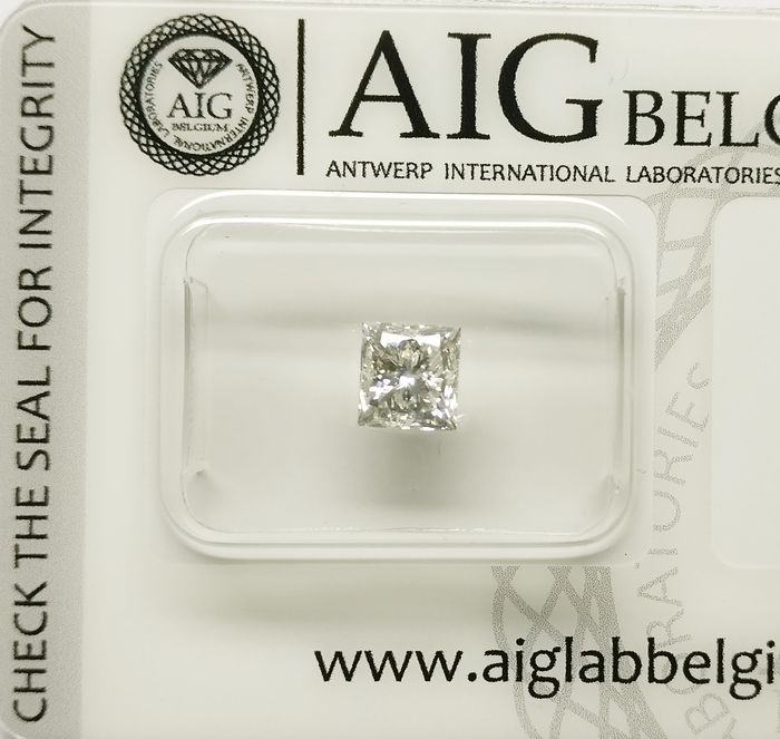 1 pcs Diamant - 0.97 ct - Prinzess - J - SI2