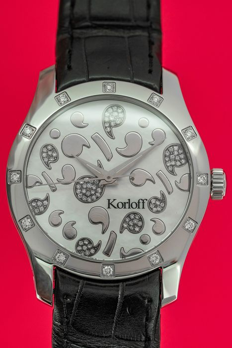 Korloff - Automatic Diamond 0.58 Carat Mother of Pearl Alligator strap Swiss Made  - CAK38/2L9 - Women - BRAND NEW