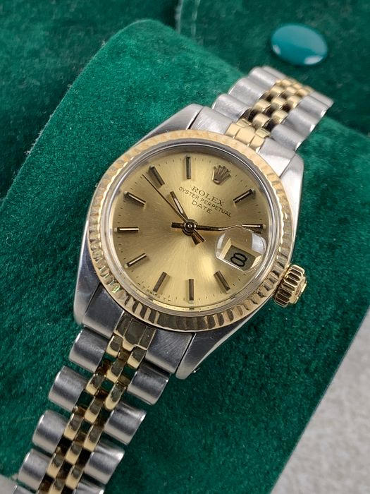 Rolex - Oyster Perpetual Two Tone Automatic - 6719 - Women - 1970-1979