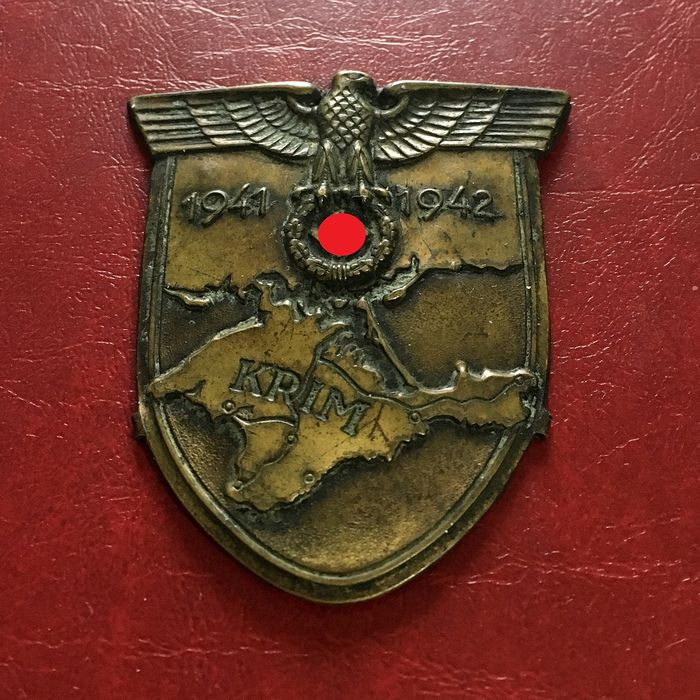 3rd Reich - Germany 1939-1945 - German Wehrmacht - Arm Shield 'KRIM'