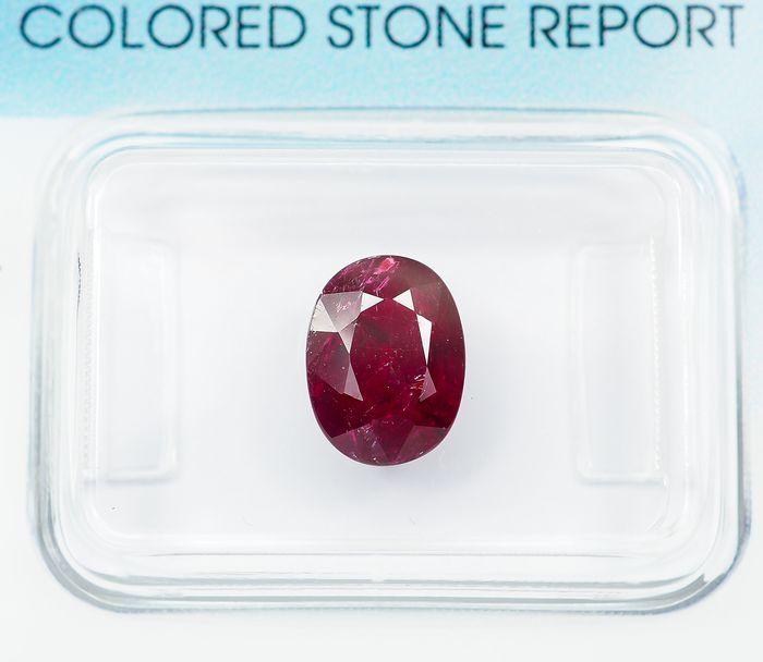 Keine Reserve - Deep Purplish Red Ruby - 1.69 ct