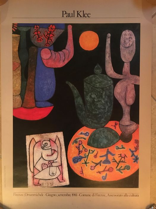Paul Klee - 2 poster Firenze Mostra - 1980s