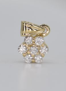 14 karat Gull - Anheng - 0.28 ct Diamant