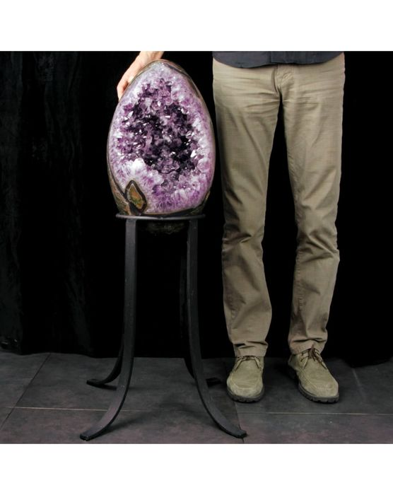Amethyst (purple variety of quartz) GIANT egg - 920×560×560 mm - 32400 g