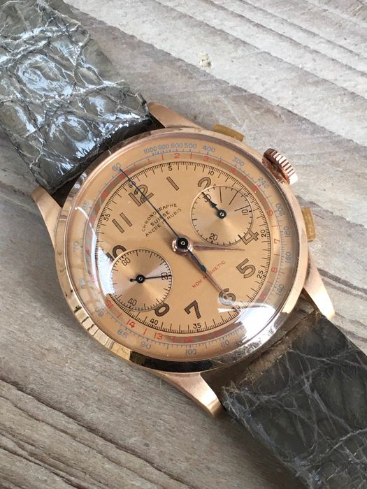 """Chrongraphe Suisse - 18K Gold 'NO RESERVE PRICE"""" - large Vintage Chronograph - Heren - 20ste eeuw"""