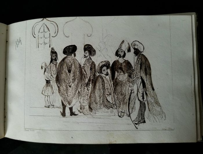 Russo-Turkish War Greek independence ottoman orientalist drawings