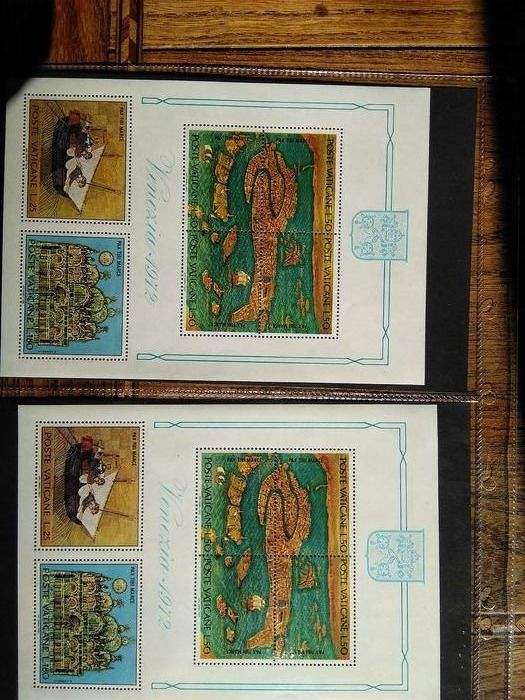 Cité du Vatican 1908/1983 - San Marino/Vatican Small collection of stamps, blocks of four, blocks, FDCs