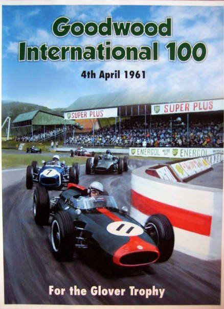 Decoratief object - Goodwood International 100 - For the Glover Trophy 2 April - 1961