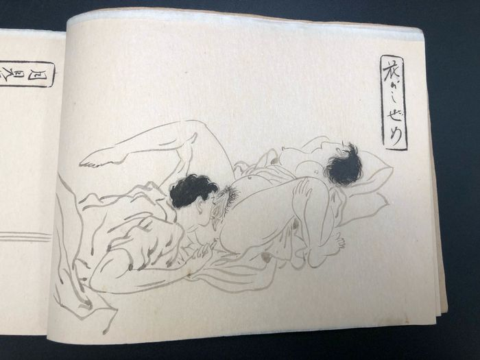"Shunga, Raccolta di schizzi Shunga disegnati a mano - Carta - ""Midarekumo"" 乱れ雲 (Turbulent clouds) - Giappone - circa. Anni '30 (Early Showa)"