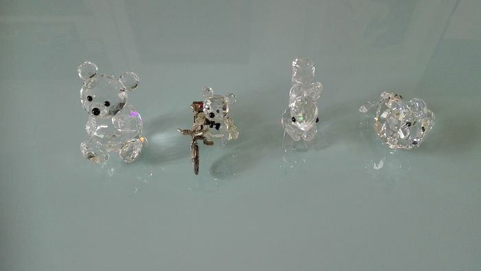 Swarovski + cadeau - Lion - Bear - Squirrel and Little Bear with Bicycle (Ag.) (4) - Modern - Crystal