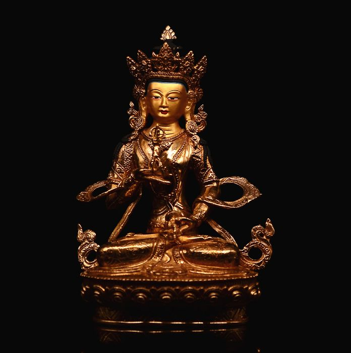 Bronze statue of Vajrasattva - Bronze - Tibet - Late 20th century