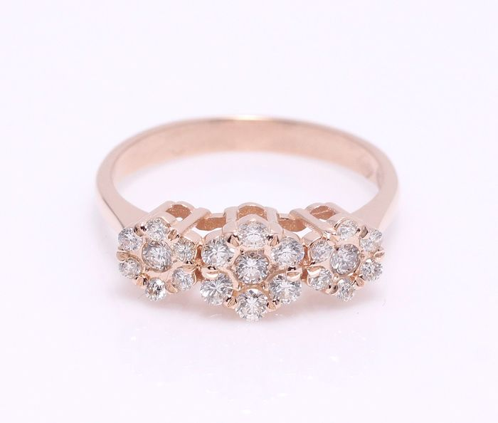 14 kt. Pink gold - Ring Diamond