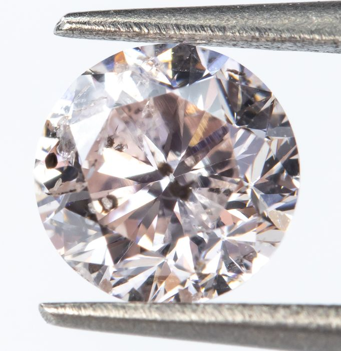Diamond - 0.43 ct - Natural Faint Pink - SI2  *NO RESERVE*