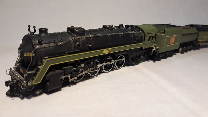 Mehano H0 - Freight carriage, Steam locomotive with tender - 4-8-2 T,  U1-F and 2 carriages - CN