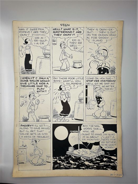 Popeye - original comic strip - original - (1960)