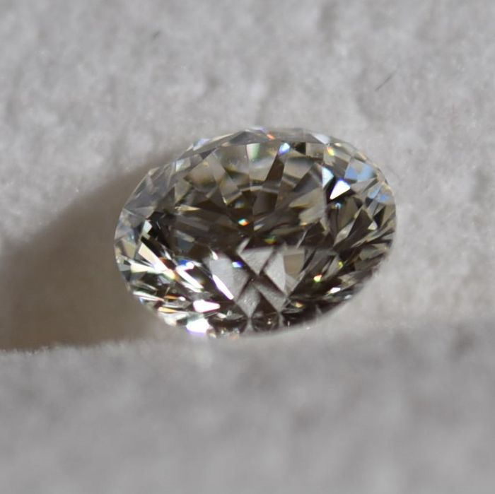 1 pcs Diamant - 0.60 ct - Brillant - F - VS2