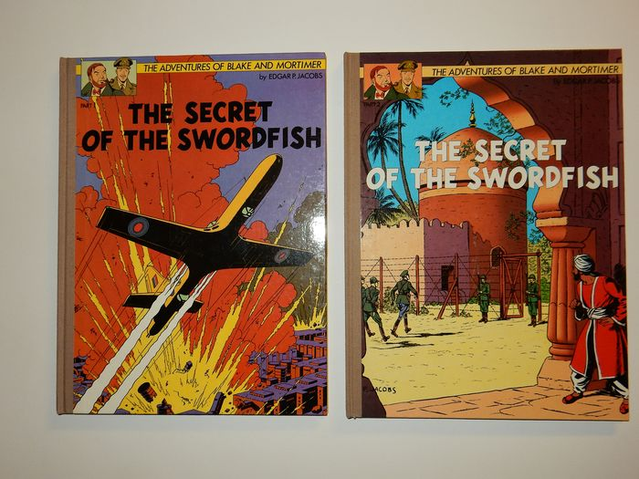 Blake en Mortimer - Engelstalige Secret of the Swordfish 1 + 2 - Mét FOUTEN in deze 1e drukken - Hardcover - First edition - (1986/1987)