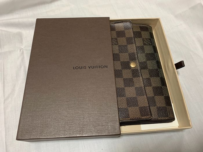 Louis Vuitton - Damier Long Wallet N61724 Bifold  Cartera