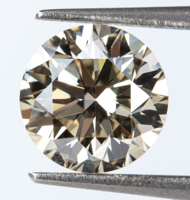 Diamond - 0.70 ct - Natural Fancy Light Brown - IF  *NO RESERVE*