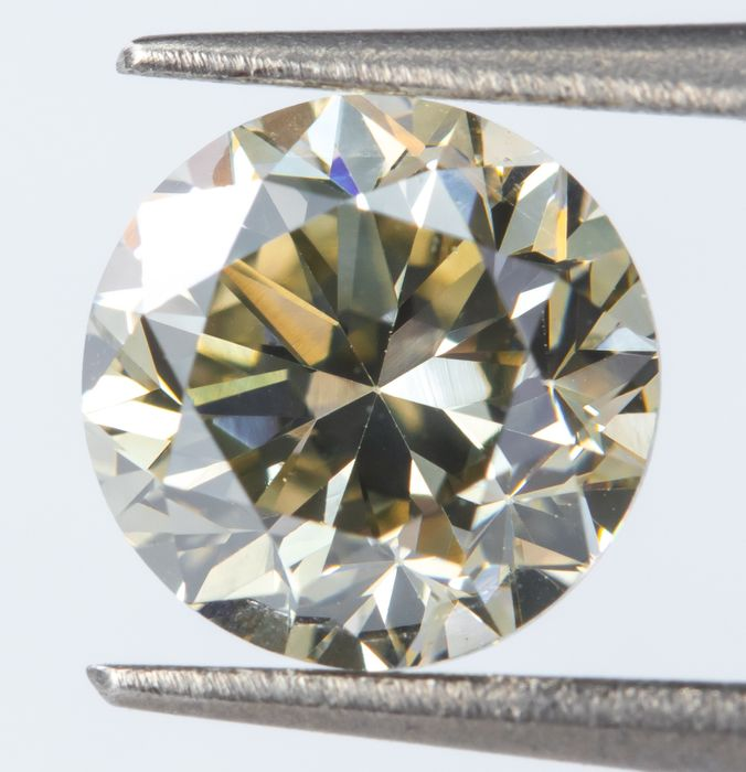 Diamond - 0.79 ct - Natural Fancy Grayish Yellow - VVS1  *NO RESERVE*