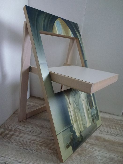 Folding chair depicted Frans Frans church (the chair is the interior of the Sint Bavokerk church in Haarlem) - Wood