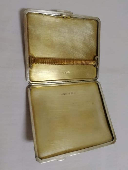 Cigarette case - .925 silver - R N Hollings & Co, Birmingham - England - mid 20th century
