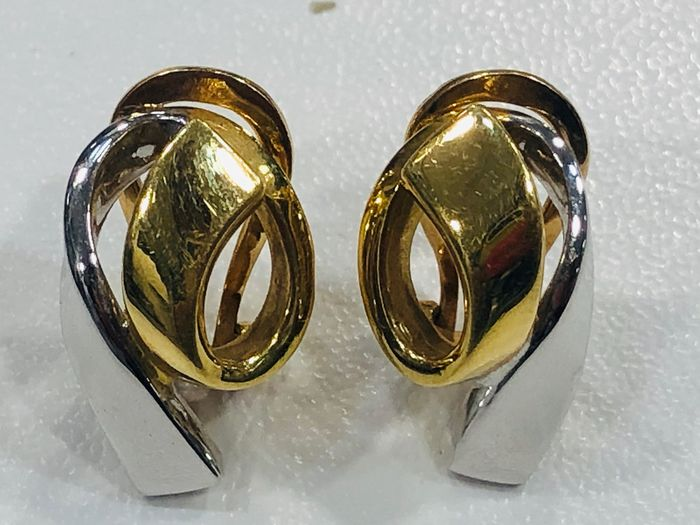 18 kt. Bicolour, White gold, Yellow gold - Earrings