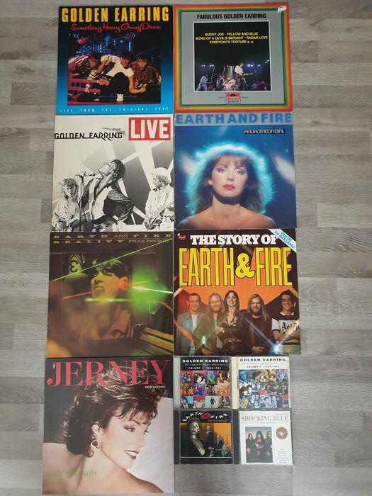 Earth & Fire, Golden Earring, Shocking Blue, Jerney Kaagman - Multiple artists - Multiple titles - 2xLP Album (double album), CD's, LP's - 1977/1992