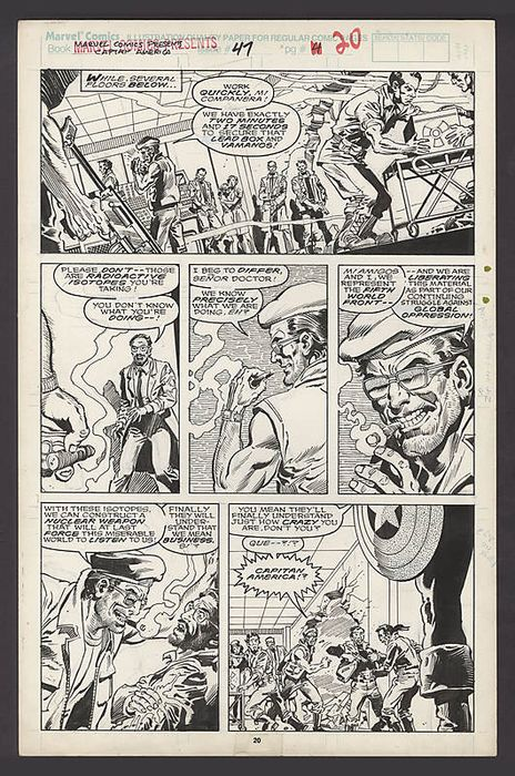 Steve Buccellato an Gerd Talaoc - Original Marvel Comics Present - Captain America  - #41 Story Page 20 - Loose page - First edition - (1990)