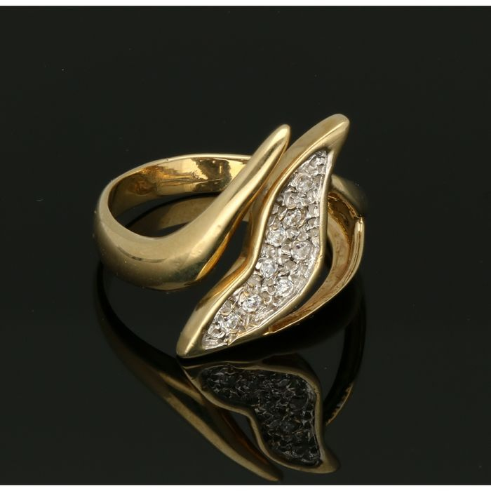 14 kt. Yellow gold - Ring - 0.29 ct Diamond