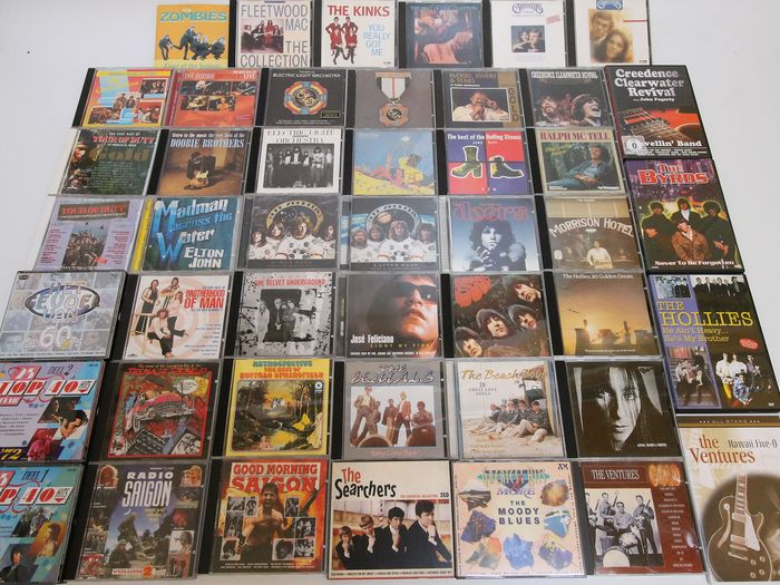 60s/70s CD Rock collection - incl. 46x cd's by Doors, Beatles, ELO and more - Différents artistes - Différents titres - CD's, DVD's - 1985/2007