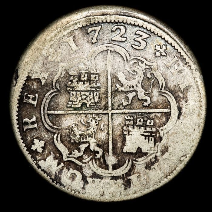 Spain - Madrid - 2 Real 1723 - Silver
