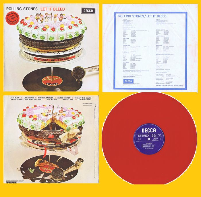 THE ROLLING STONES - Let It Bleed (Red Coloured Vinyl) - LP album  - 1977/1977