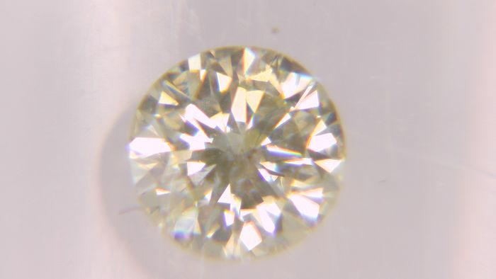 1 pcs Diamond - 0.31 ct - Στρογγυλό - fancy light yellow - SI1, No Reserve Price!