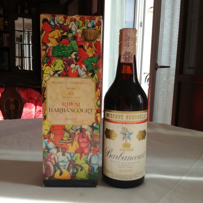 Barbancourt 25 years old - Reserve Veronelli - b. Années 1970 - 75cl