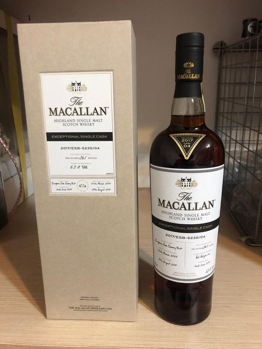 Macallan 2005 Macallan ESC Exceptional Single Cask #04 - One of 561 - 700ml
