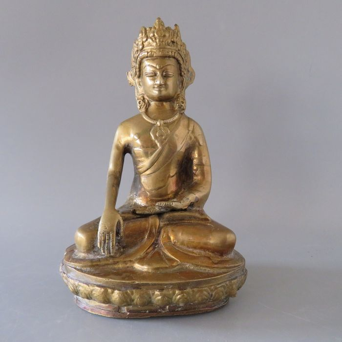 Sculpture - Brass - Amitayus - Nepal - Second half 20th century