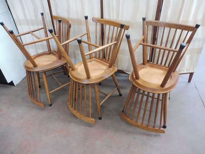 Six chaises vintage - Scandinave
