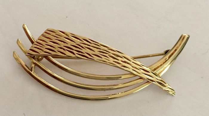 14 kt. Yellow gold - Brooch