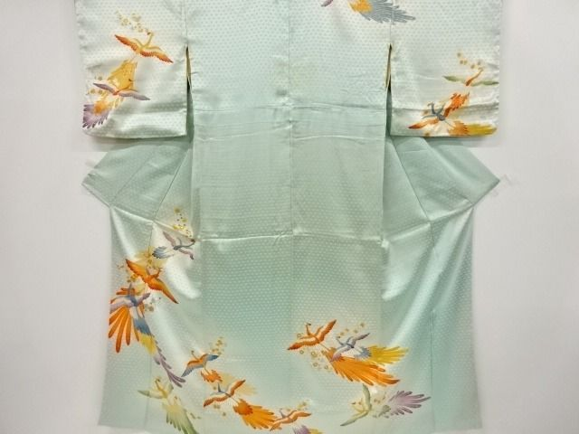 Kimono - Silk - Flowers and Birds patterns - Japan - Late 20th century