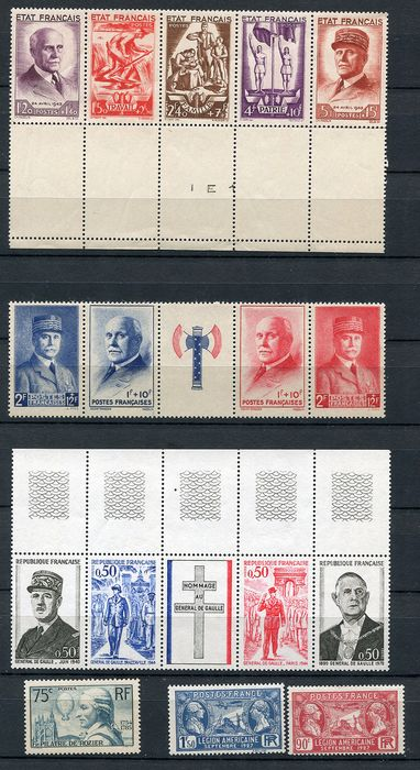 France 1910/1978 - Collection starting with semi-classics untill modern