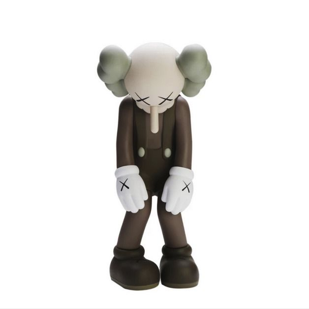 orig KAWS Medicom Toy Small Lie BROWN Limited Edition Companion Vinyl 2017