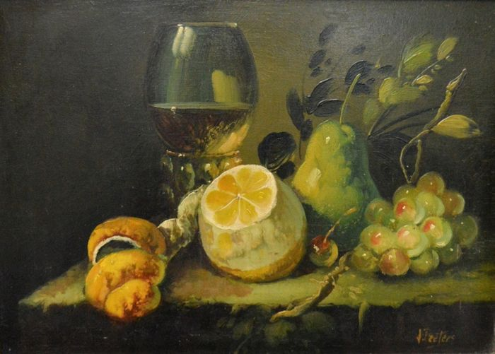 J. Peeters (20e eeuw) - Still life with fruit