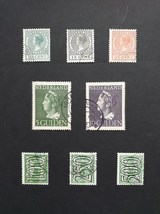 Pays-Bas 1876/1942 - Various series, amongst others, 1924 exhibition, Konijnenburg, 'bar stamps'
