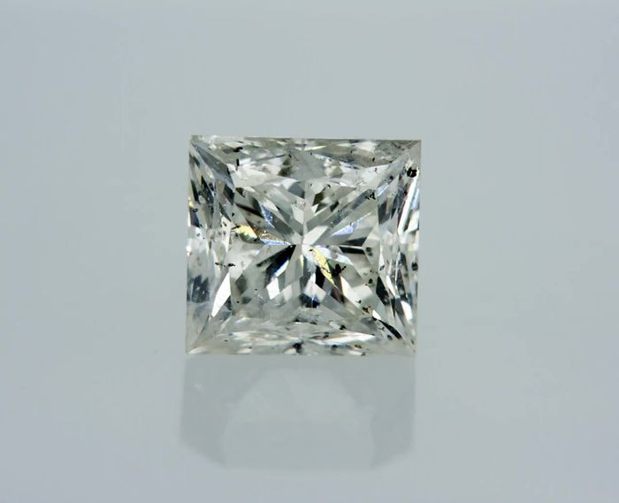 1 pcs Diamant - 1.06 ct - Prinzess - I - SI1