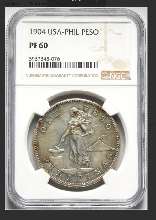 Philippinen - Peso 1904 United States Administration in NGC Slab - Silber