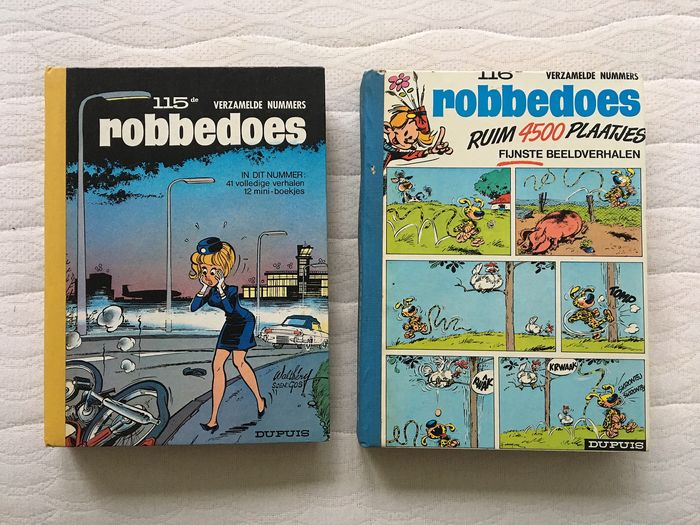 Robbedoes (magazine) - Robbedoes album nr. 115 & 116 - Hardcover - First edition - (1970/1970)