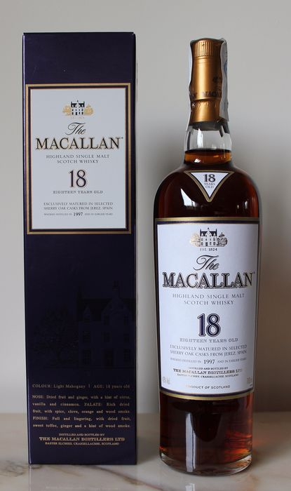 Macallan 1997 18 years old Sherry oak - Original bottling - 0,7ltr