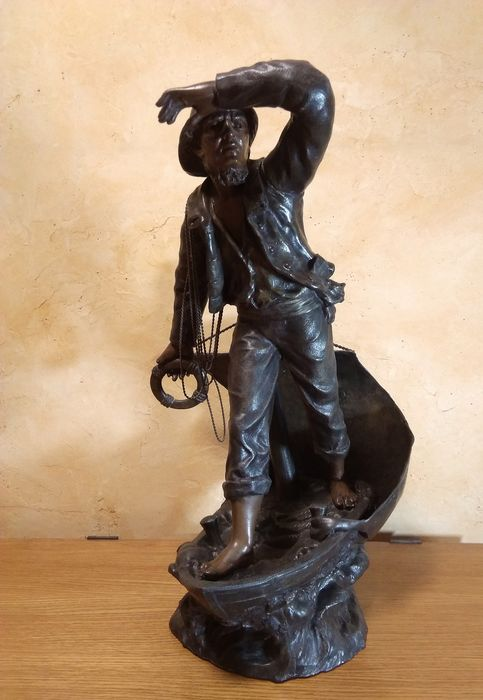 Sculpture, Sauveteur - Spelter - Late 19th century